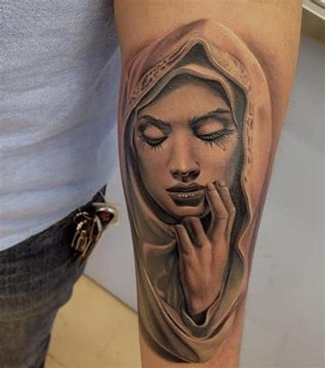 47 religious virgin mary tattoos