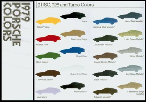 1979 porsche paint colors search porsche porsche 928 and porsche 911