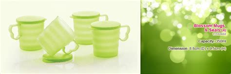 Blossom Mug Tupperware tupperware blossom mugs seals 4 350ml tupperware