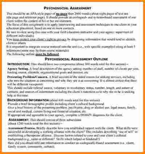 9 biopsychosocial assessment exle cashier resume