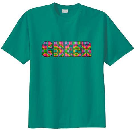 design t shirt neon colors colorful neon sport block cheer short sleeve t shirt