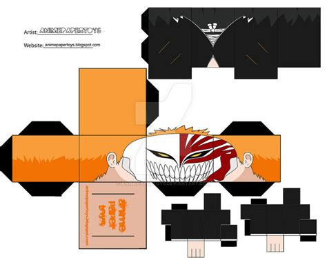 Ichigo Hollow Mask Papercraft - ichigo vizard cubee by animepapertoys on deviantart