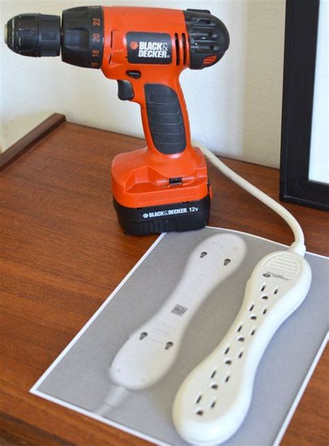 how to mount a power strip to a desk smart simple tip how to use a scanner to make wall