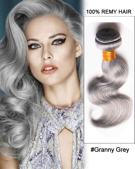 body wave on gray hair 18 black granny grey ombre weave body wave weft remy human