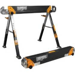 home depot saw horses adesso 32 31 in adjustable folding sawhorse tb c700 the