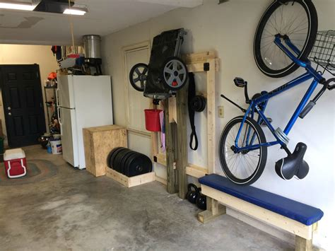 diy garage equipment diy folding squat rack fitness eq accessories