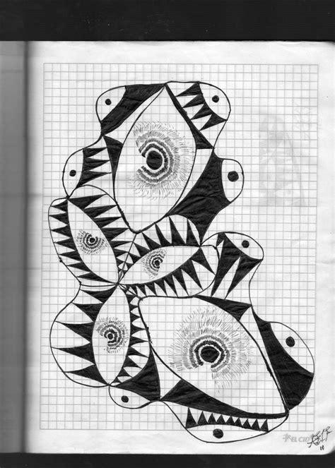imagenes abstractas con significado dibujo abstracto de ojos y espinas abstracto pinterest
