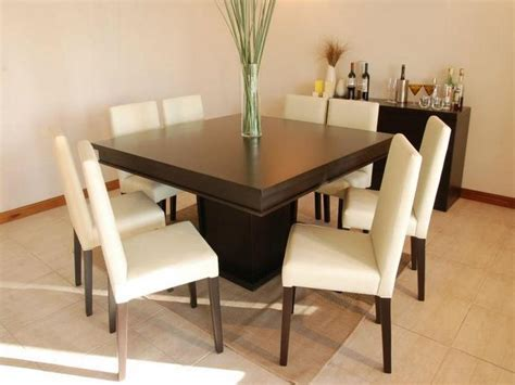 Square Dining Room Table For 8 Simple And Fresh Square Dining Table For 8 Stroovi