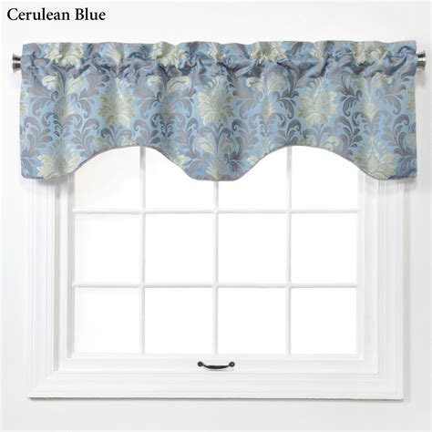 Shaped Valances For Windows doris woven jacquard damask shaped window valance