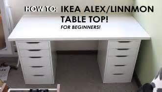 Makeup Vanity With Drawers On Both Sides How To Set Up Ikea Alex Linnmon Drawers For Beginners