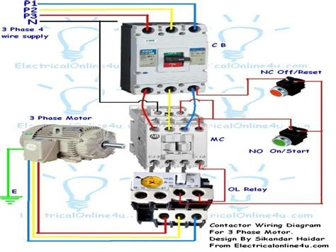 3 phase motor contactor wiring diagrams wiring diagrams