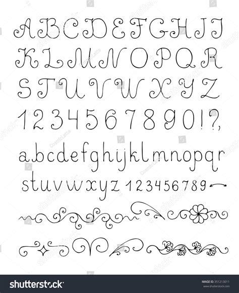 decorative symbol font download vector decorative font hand drawn letters stock vector