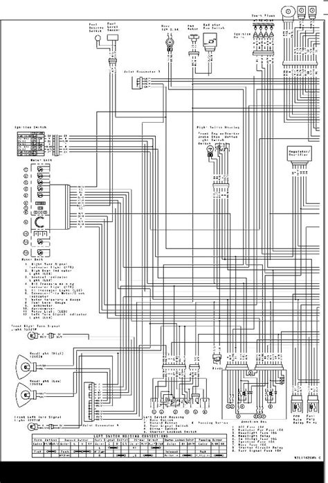wiring diagram for 1977 1978 kawasaki kz1000 and kz1000ltd