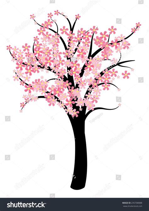 cherry tree symbolism simple tree vector symbol illustration stock vector 235708888