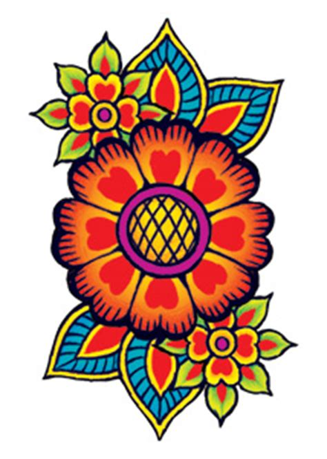 hippie flowers tattooforaweek temporary tattoo largest