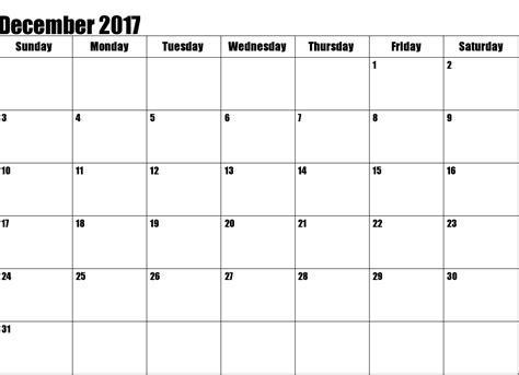 december 2017 printable calendar template holidays excel