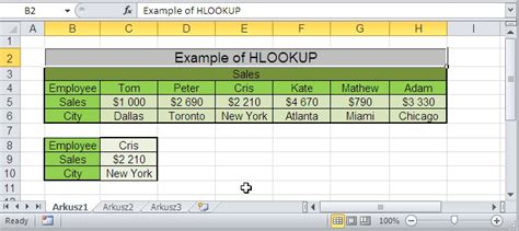 tutorial excel hlookup vlookup how to use hlookup in excel 2007 for different sheets