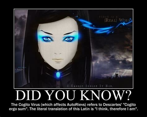Proxy Meme - the cogito virus in ergo proxy which affects autorievs