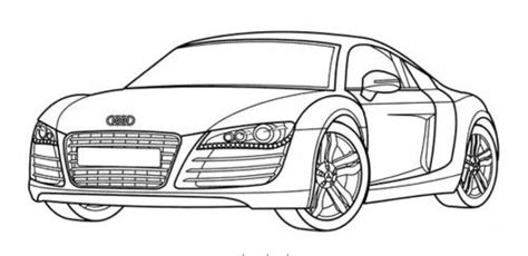 Abziehbilder Für Autos by Racing Car Audi Has A Nice Body Shape Coloring Page Auto