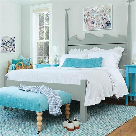 high tide bed  maine cottage  color lives