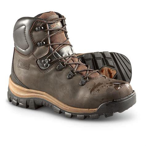 mens steel toe hiking boots s rocky 174 steel toe waterproof hikers brown
