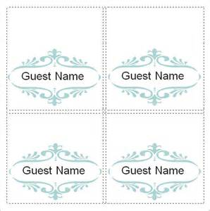 place card template word sle place card template 6 free documents in