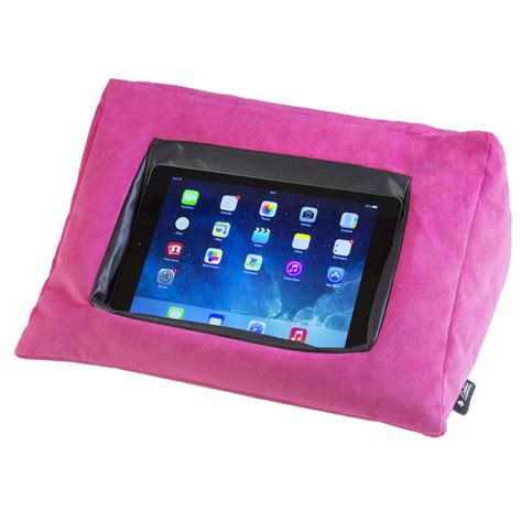 ipad pillow for bed icushion ipad cushion pillow stand holder velvet pink