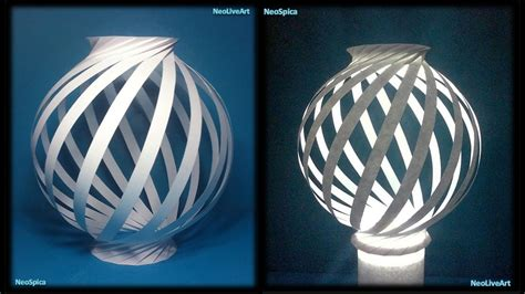 How To Make A Paper Light - paper l twist spiral 1