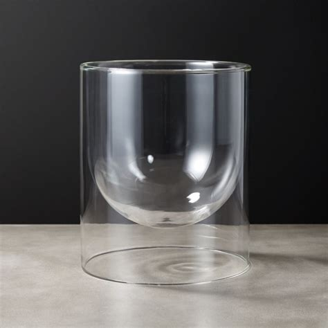 double wall glass vase reviews cb2