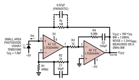 pin diode bias circuit solutions wide bandwidth photodiode lifier