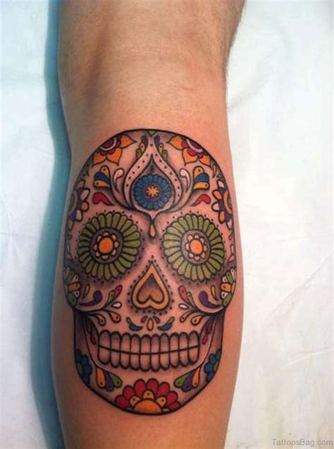 sugar skull tattoo design 67 stylish skull tattoos for leg