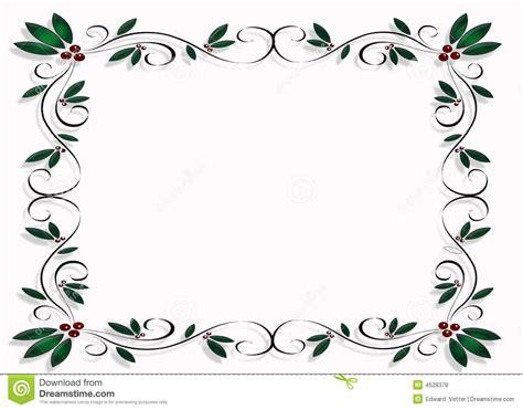 design frame clipart christmas design frame or border stock illustration