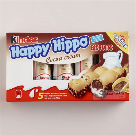 European Home Decor Stores by Kinder Happy Hippo Cocoa Biscuits Set Of 5 World Market