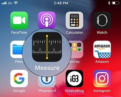 how to use the measure app in ios 12 on iphone complete guide