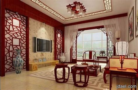asian style home decor جدار وفواصل جبس صيني وتصاميم مجالس وغرف معيشه صينيه