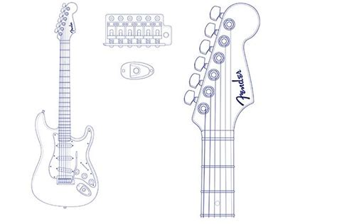 Fender Stratocaster Headstock Template Pdf 640 13 10 Blueprint Templates Station Fender Stratocaster Headstock Template Pdf