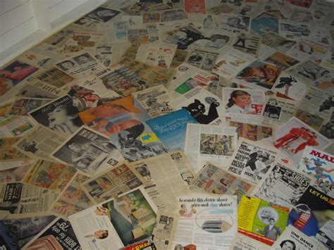 decoupage concrete floor decoupage floor using vintage magazine ads work