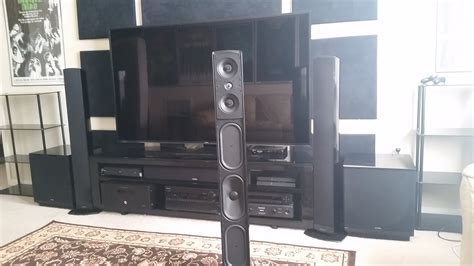 home theater speakers  built  subwoofer