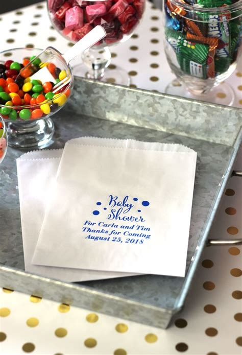 favor bags for buffets 6 x 8 flat custom printed baby shower favor bags set of 25 personalized baby bags and messages