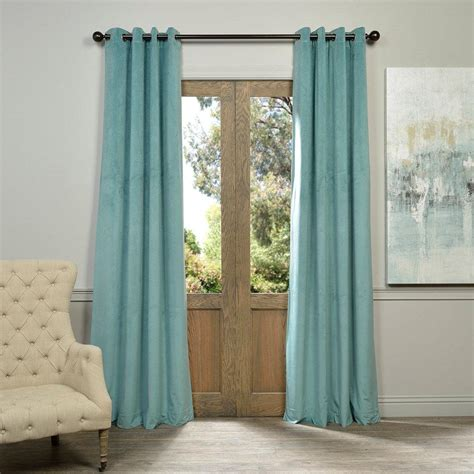 aqua velvet curtains home decorators collection hdc velvet lined back tab