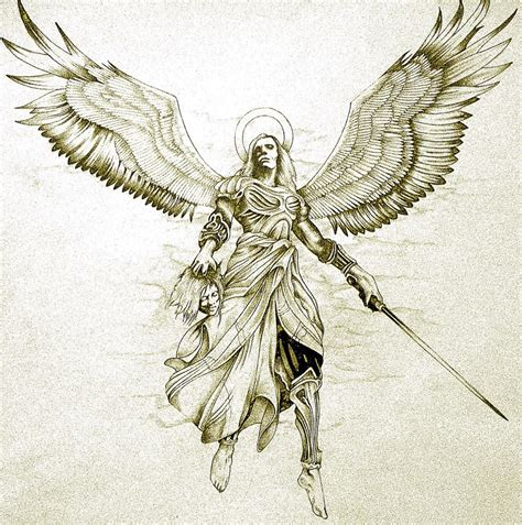 archangel tattoo designs archangel gabriel ink tatouage inspiration