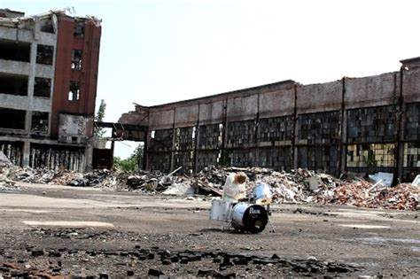 Two Sheds Detroit by Exhibition Dirt Dust Ruins Architectureau