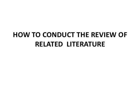 About Review Of Related Literature by Review Of Related Literature