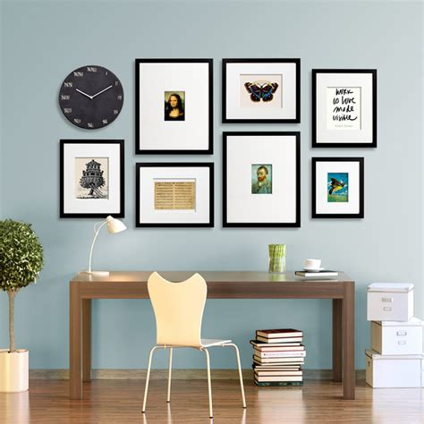 layout for photo wall gallery wall layouts using easygallery 174 frames modern