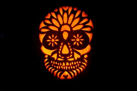 day of the dead pumpkin template photo