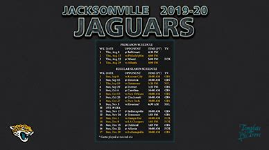 Jaguar Schedule 2020 by 2019 2020 Jacksonville Jaguars Wallpaper Schedule