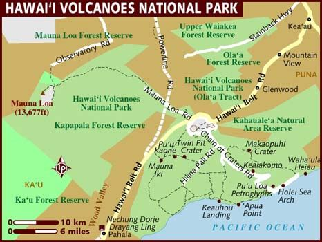 volcano usa map map of volcanoes national park