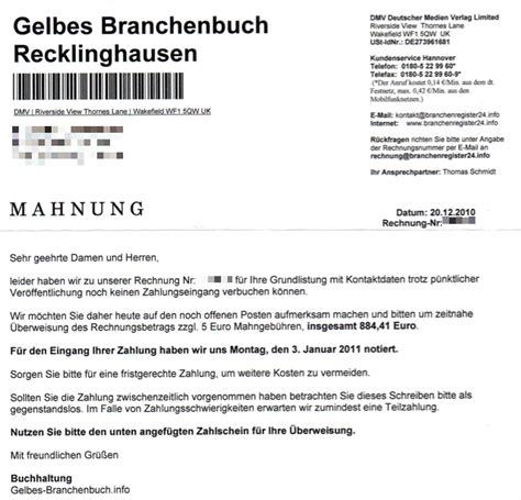 Mahnung Muster Rechtsanwalt Dmv Deutscher Medien Verlag Limited Besteht Weiter Auf Forderungen Und Verschickt Mahnungen