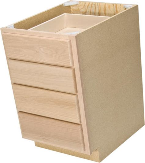 Unfinished Drawers by Quality One 18 Quot X 34 1 2 Quot Unfinished Oak 4 Drawer Base