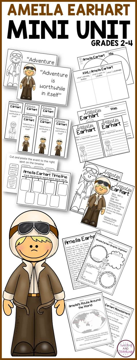 amelia earhart biography for middle school 17 best images about amelia earhart on pinterest piggy